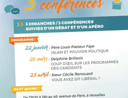 3 conférences avant les élections